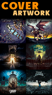 Album cover artworks for bands