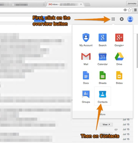Adding All4band to Gmail contacts