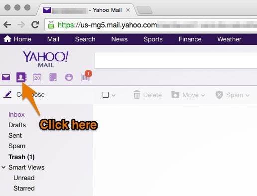 Adding All4band to Yahoo contacts contacts